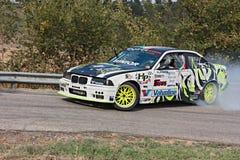 Coche de competición de la deriva BMW Foto de archivo libre de regalías