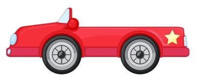 Un coche rojo stock de ilustración