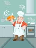 Un cocinero stock de ilustración