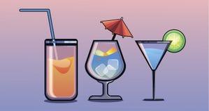 Un cocktail di differente illustrazione di stock
