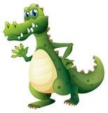 Un cocodrilo peligroso stock de ilustración