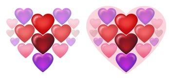 Un coeur énorme des coeurs illustration libre de droits