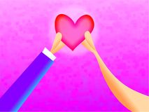 Un coeur illustration stock