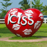 Un coeur avec le baiser de la bouche Photos stock