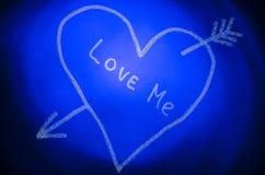 Un coeur avec une flèche Image stock