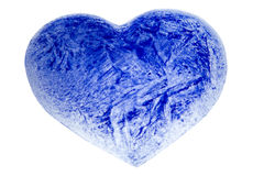 Un coeur de bleu glacier Photos libres de droits