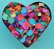 Un coeur de confettis Photographie stock libre de droits