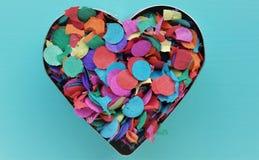 Un coeur de confettis Image libre de droits