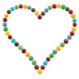 Un coeur de sucrerie Image libre de droits