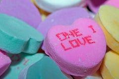Un coeur de sucrerie d'amour d'I Photographie stock libre de droits