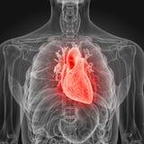 Un coeur enflammé illustration stock