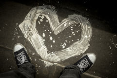 Un coeur peint Photo stock