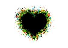 Coeur peint photographie stock libre de droits