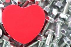 Un coeur pour des vis Photographie stock libre de droits