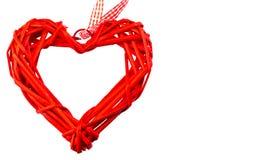 Un coeur rouge sur le fond blanc L'espace pour le texte ` S DA de Valentine Photo libre de droits