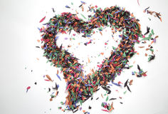 Un coeur unique de confettis Photo libre de droits