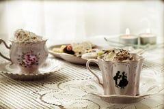 Un coffe delle due tazze Fotografie Stock