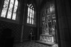 Un coin dans une église Photos libres de droits