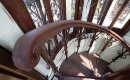 Un coin des escaliers à l'intérieur de la mosquée grande de tour Mosquée de Surakarta, Java Indonesia central photos libres de droits