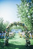 Un coin du mariage de pelouse photos stock