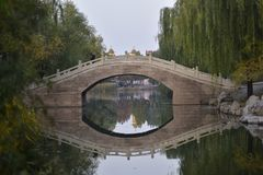 Un coin du parc botanique Images libres de droits