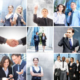 Un collage de gens d'affaires dans des vêtements formels Images libres de droits