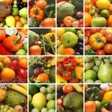 Un collage de imágenes con las frutas y verdura fotografía de archivo libre de regalías