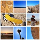 Un collage de las fotos hermosas del verano adentro alrededor de Lagos, Portugal Concepto del viaje del verano foto de archivo