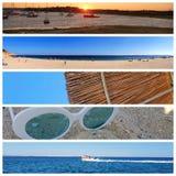 Un collage de las fotos hermosas del verano adentro alrededor de Lagos, Portugal Concepto del viaje del verano fotografía de archivo libre de regalías