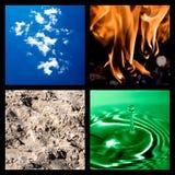 Un collage dei quattro elementi Immagini Stock Libere da Diritti