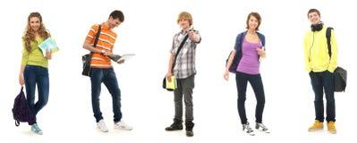 Un collage dei teenages del banco in vestiti moderni Immagini Stock Libere da Diritti