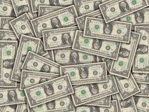 Un collage delle fatture dell'un dollaro Fotografie Stock Libere da Diritti