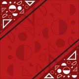 Un collage delle forme geometriche Fotografia Stock