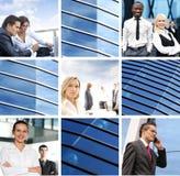 Un collage des images d'affaires avec les jeunes Photos libres de droits