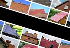Un collage di molte immagini con i frammenti di vari tipi di ro fotografie stock