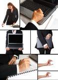 Un collage di tema di affari Immagine Stock Libera da Diritti