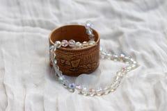 Un collar del cristal de roca Fotografía de archivo libre de regalías