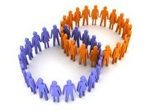 Un collegamento differente di due gruppi. Fotografia Stock Libera da Diritti