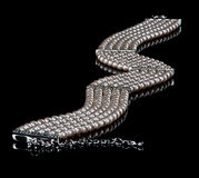 Un collier de perle Images stock
