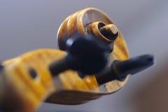 Un collo di un violino Fotografia Stock