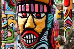 Un coloré du totem. Photographie stock