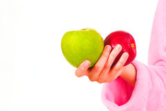 Un colore rosso e una mela verde Fotografia Stock Libera da Diritti