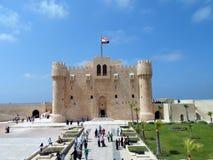 Un colpo bene preso della cittadella di Qaitbay in Alessandria d'Egitto Fotografia Stock