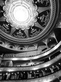 Un colpo in bianco e nero dell'interno dell'opera UCRAINA di casa di Kyiv immagine stock
