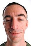 Colpo in testa maschio caucasico Fotografie Stock