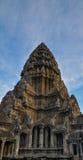 Un colpo della torre di Angkor Wat in Siem Reap, Cambogia immagine stock libera da diritti