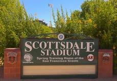 Un colpo dello stadio di Scottsdale, Scottsdale, Arizona Immagine Stock Libera da Diritti