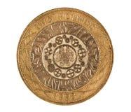 Un colpo a macroistruzione della moneta di libbra due Fotografia Stock