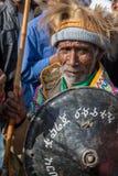 Un combattant avec des médailles célèbre le 119th anniversaire de l'annonce Photographie stock libre de droits