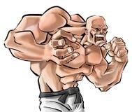 Un combattente Immagini Stock
